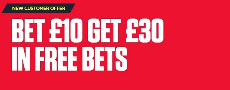 Ladbrokes new customer offer bet £10 get £30